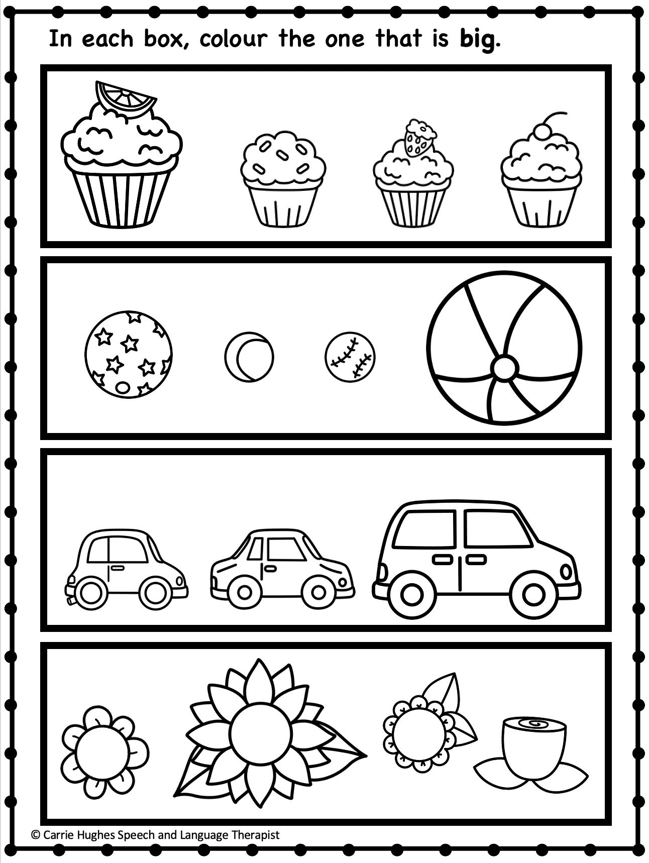 BIG AND LITTLE - WORKSHEET AND ACTIVITIES - BASIC CONCEPTS ...